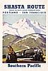 ORIGINAL 1930s Southern Pacific Rail Travel Poster LOGAN, Maurice George Logan, $800