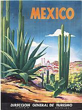 Beautiful Original 1930s Mexico Travel Poster MAGALLON