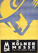 Original Vintage 1920s Cologne Travel Poster SCHULPIG