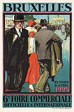 Beautiful Original 1925 World´s Fair Travel Poster MASS