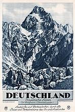 Lot of 15 German Vintage 1930s Travel Posters