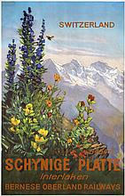 Original Vintage 1950s Swiss Travel Poster ERNST HODEL