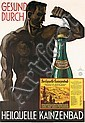 Original 1930s German Mineral Water Advertising Poster