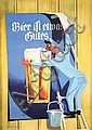 Funny Old Original 1960 Swiss Design Beer Poster Plakat