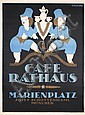 Original 1910s German Munich Restaurant Travel Poster