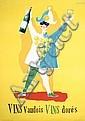 ORIGINAL 1940s Herbert Leupin Swiss Design Wine Poster