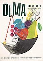 ORIG 1950s Swiss Design OLMA Fair Poster DONALD BRUN