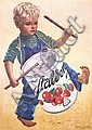 Original 1940s Swiss Food Advertising Poster RUTZ Art
