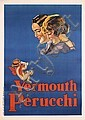 Original 1930s Spanish Poster Plakat Vermouth Perucchi