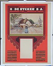 Original 1890s/1900s De Rycker Advertising Poster