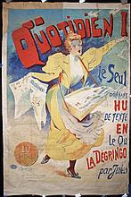 Original 1890s/1900s French Newspaper Poster LOOURDEY