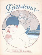 Original 1910s Parisiana Magazine Cover Print MONIER