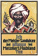Rare Original 1920s Messmer Tea Poster Tee Plakat