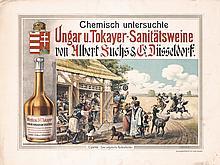 2 Original 1890s/1900s POSTERS Hungarian Wine + German