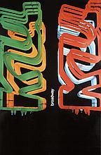 Original 1960s New York Broadway Design Poster MIHO ART