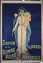 Old Original 1900s French Soap Advertising Poster