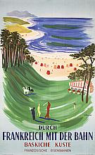 Original 1950s French Rail Golf Poster VILLEMOT Plakat