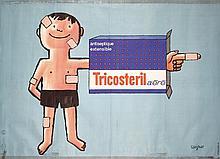 Original 1960s SAVIGNAC French Band Aid Poster TRICOSTE