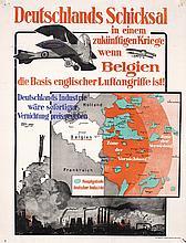 Original German Propaganda Poster 1910s Airplane