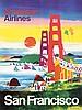 Original 1960s San Francisco Travel Poster KINGMAN, Dong Moy Chu Kingman, $200