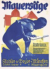 Old Original German 1920s LUDWIG HOHLWEIN Poster Plakat