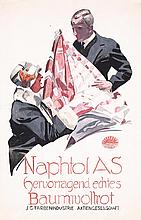 Original Artwork 1920s LUDWIG HOHLWEIN Maquette + Card