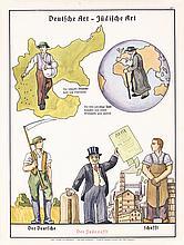 2 Rare Original 1930s Anti-Semitic Propaganda Posters