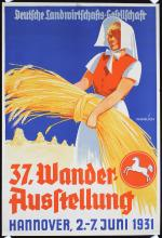 Original 1930s German Agricultural Travel Poster