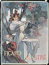 Original 1896 ALPHONSE MUCHA Magazine Cover FIGARO ILLU