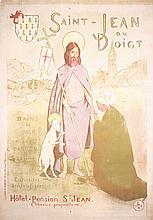Original 1890s MOREAU-NELATION Saint-Jean Hotel Poster