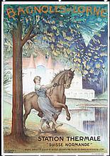 Original 1920s French Travel Poster Bagnoles