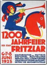 ORIGINAL 1925 German 1200 Year Anniversary Poster Plakat