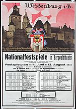 Old Original 1930s German Travel Poster LUDWIG HOHLWEIN