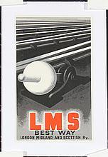 Original 1920s CASSANDRE LMS Rail Travel Poster Small