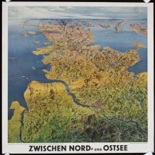 2 Original 1930s German Travel Posters NORTH BALTIC SEA