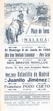 Original 1930s Spanish Bullfighting Poster Malaga