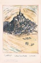 Original 1930s Paris Mont Saint Michel Travel Poster