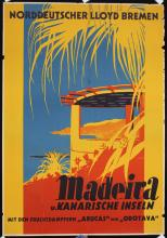 Original 1930s German Lloyd Travel Poster MADEIRA