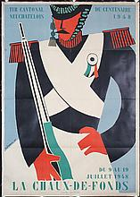 Original 1940s Swiss Shooting Competition Poster