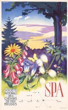 Original 1940s Belgian Spa Travel Tourism Poster