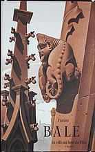 Original 1940s Basel Swiss Travel Tourism Poster