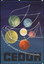 Original Vintage 1950s Czech Travel Poster Cedok