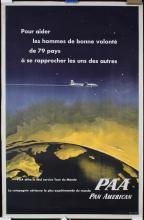 Original 1950s PAA Pan American Travel Poster