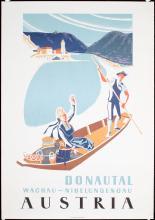 Original 1950s/60s Austria Danube Valley Travel Poster
