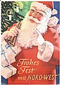 Old German Santa Claus Poster 1930s