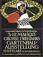 Old Original 1913 German Gardening Expo Poster Plakat