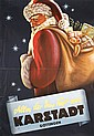 Fantastic 1940s German Santa Claus Advertising Poster