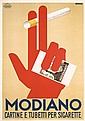 RARE Original 1930s Modiano Poster FARKAS Art