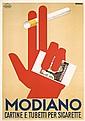 RARE Original 1930s Modiano Poster FARKAS Art