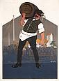 Original 1900s Lowenbrau Munich Beer Poster CARL MOOS